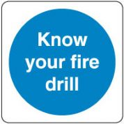 Mandatory Safety Sign - Know Your Fire 104